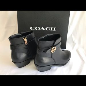 COACH BLACK LEATHER BOOTIE - New with Box